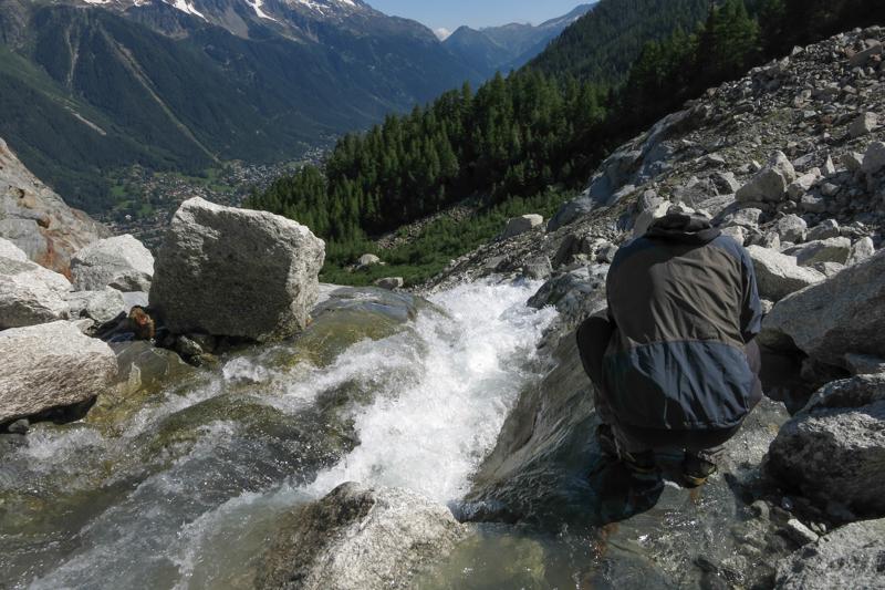 Chamonix : le site d'étude proglaciaire du torrent de la croset