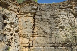 Dune avec des litages obliques tangentiels. Ecole de Terrain L3