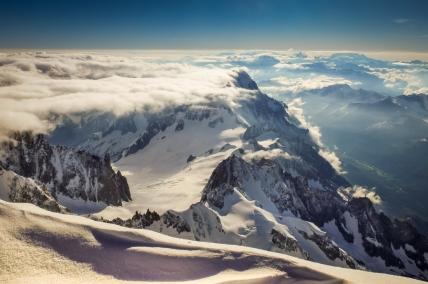 Chamonix_ Vue sur les Alpes depuis Le Mont-Blanc